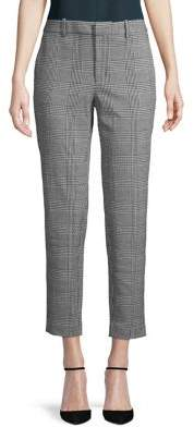 Lord & Taylor Ponte Glen Plaid Crop Pants