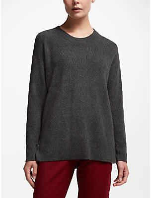 John Lewis & Partners Textured Crew Neck Sweater