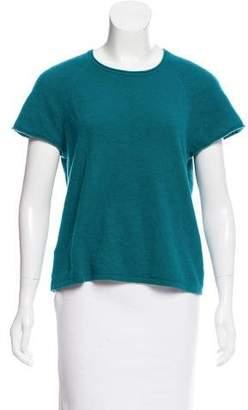 Calvin Klein Short Sleeve Cashmere Top