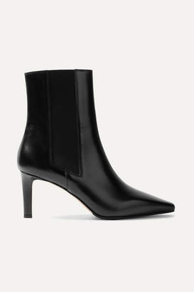 Leila aeydē Leather Ankle Boots - Black