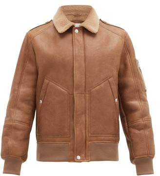 Brunello Cucinelli Patch Pocket Shearling Jacket - Mens - Brown