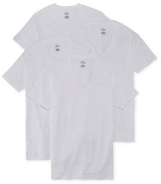 STAFFORD Stafford 4-pk. Cotton V-Neck T-Shirts-Big & Tall