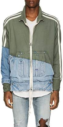 Greg Lauren Men's Cotton Terry & Denim Track Jacket
