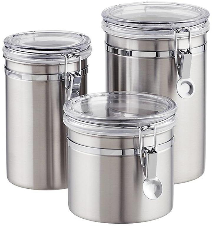 Container Store 24 oz. Canister Brushed Stainless
