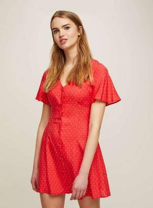 Miss Selfridge Petite button down printed skater dress