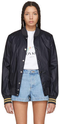MAISON KITSUNÉ SSENSE Exclusive Black Logo Teddy Jacket
