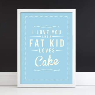 Rock The Custard 'Fat Kid Cake' Fine Art Retro Print