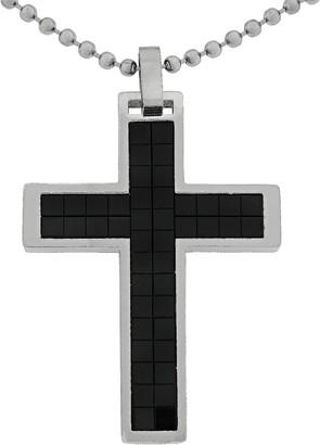 Lynx Stainless Steel Cross Pendant