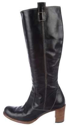 Barneys New York Barney's New York Leather Knee-High Boots Black Barney's New York Leather Knee-High Boots