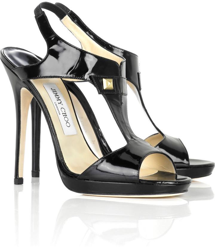 Jimmy Choo Groove patent sandals