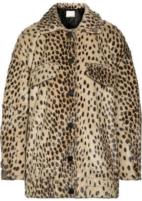 By Malene Birger Tidara Oversized Leopard-print Faux Calf Hair Bomber Jacket - Leopard print
