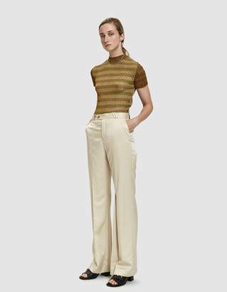 Acne Studios Tohny Shiny Suit Pant in Champagne Beige