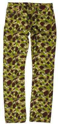 Lucien Pellat-Finet Mid-Rise Camouflage Jeans