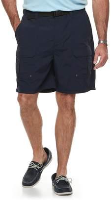 Croft & Barrow Big & Tall Relaxed-Fit Side-Elastic Twill Cargo Shorts