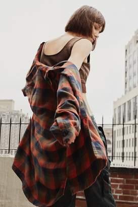 Urban Outfitters Brendan Drapey Flannel Button-Down Shirt