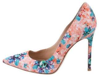 Gianvito Rossi Printed Pointed-Toe Pumps