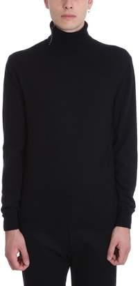 Mauro Grifoni Black Wool Turtleneck Sweater