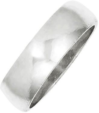 Sterling 6mm Polished Half-Round Ring