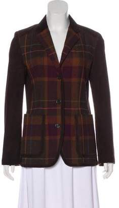 Etro Plaid Wool-Blend Blazer