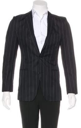 Dolce & Gabbana Pinstripe Notched Blazer Silk-Blend Pinstripe Blazer
