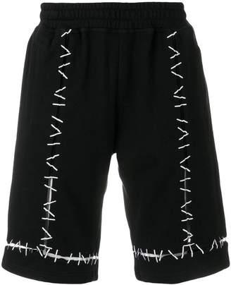Kokon To Zai Pin embroidered track shorts