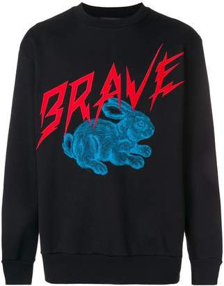 Diesel Brave rabbit print sweatshirt