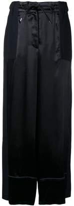 Sacai contrast panel palazzo trousers