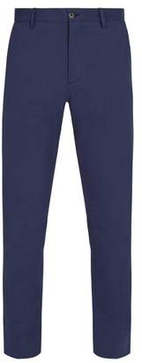Etro Cotton Blend Trousers - Mens - Blue
