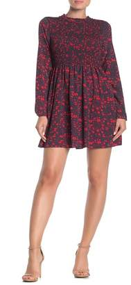 MelloDay Long Sleeve Floral Print Dress