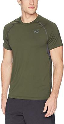 Peak Velocity Men's Standard Elite-Stretch Short Sleeve Quick-dry Athletic-Fit T-shirt