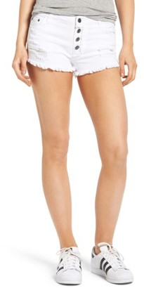 BP Women's Frayed Hem Denim Shorts
