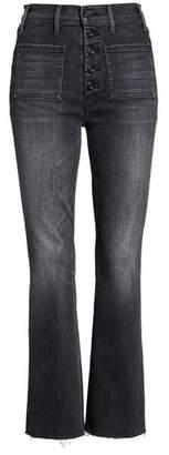 Mother Hustler Patch Pocket High Waist Ankle Jeans