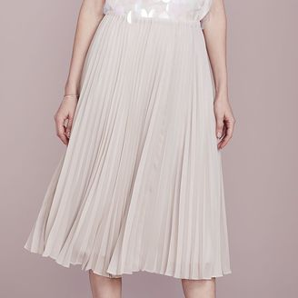 LC Lauren Conrad Dress Up Shop Collection Pleated Metallic Midi Skirt - Women's $64 thestylecure.com
