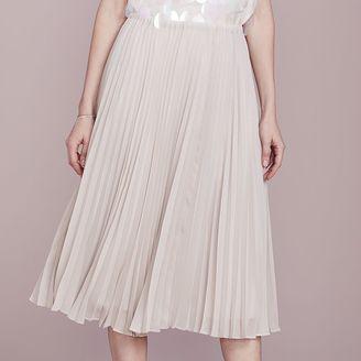 LC Lauren Conrad Dress Up Shop Collection Pleated Metallic Midi Skirt - Women's $64 thestylecure.com