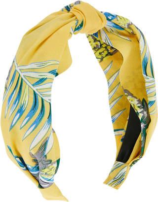 Accessorize Hawaii Print Wide Fabric Alice Hair Band