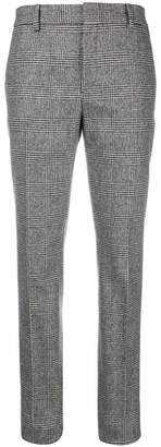 Saint Laurent slim fit check trousers