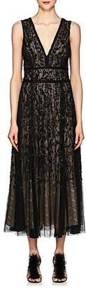 J. Mendel Women's Embellished Silk Cocktail Gown - Black