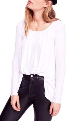 Free People Love Valley Long Sleeve High/Low Top