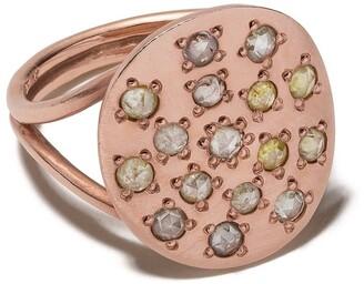 Brooke Gregson 14kt rose gold diamond Orbital ring