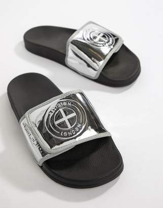 Religion Slydes x sliders with logo in silver
