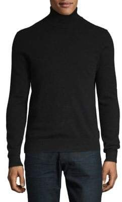 Black Brown 1826 Turtleneck Cashmere Sweater