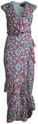 Saloni Anita High-Low Ruffle Dress