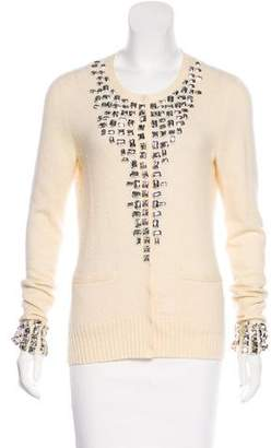 Tory Burch Cashmere Sequin Cardigan