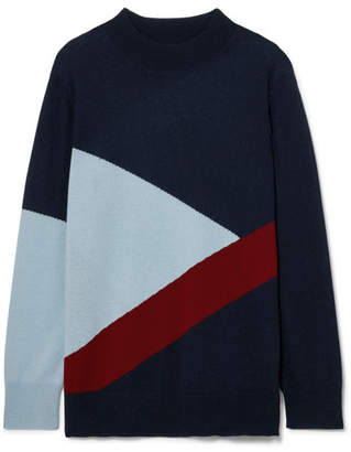 Chinti and Parker Mexicano Turtleneck Wool And Cashmere-blend Sweater - Navy