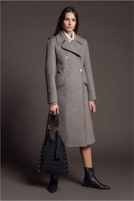 Sonia Rykiel Long Double-Faced Wool Coat