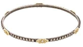Armenta Diamond Oxidized Scrolls Bracelet silver Diamond Oxidized Scrolls Bracelet