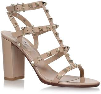 Valentino Leather Rockstud Sandals 90