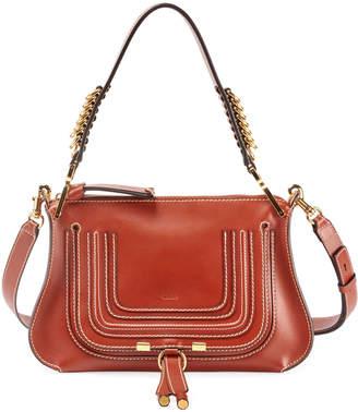 Chloé Marcie Saddle Shiny Shoulder Bag