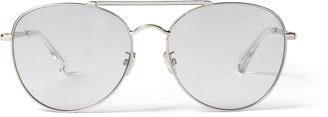 Jimmy Choo ABBIE/G/S 61 Lilac Glitter Aviator Sunglasses with Palladium Frame