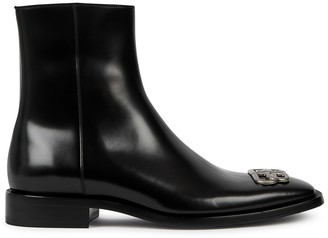 Rim BB Black Leather Ankle Boots
